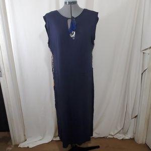 LETARTE Handmade Navy Blue Coverup / Dress Size M